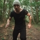 The Man Running in the Forest - VideoHive Item for Sale