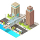 Isometric Urban Traffic Template - GraphicRiver Item for Sale