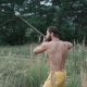 Modern Cossack Workouts with Swords in the Fields - VideoHive Item for Sale