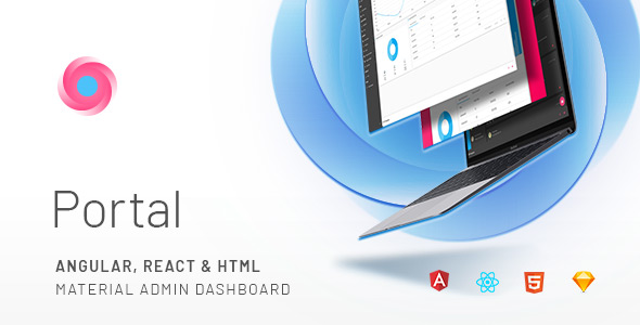 Image of Portal - Angular, React & HTML Material Admin Template