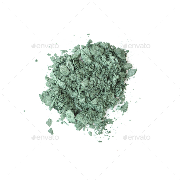 Eye shadow crushed samples isolated on white background. Top vie - Stock Photo - Images