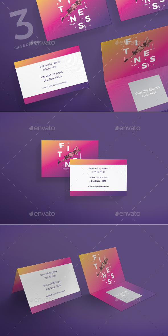 Fitness Training Gym Business Card - Corporate Business Cards