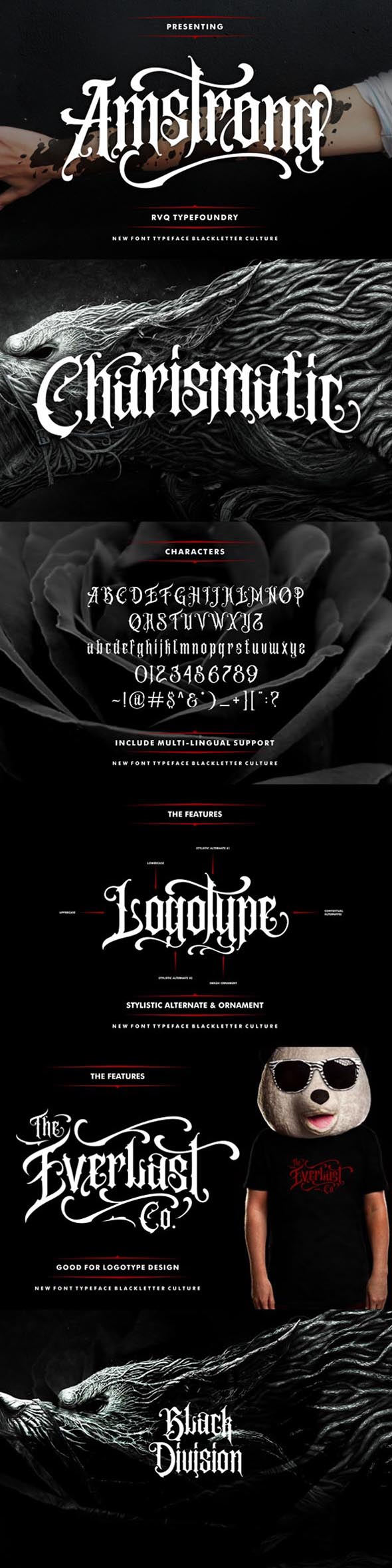Amstrong Typeface - Decorative Fonts