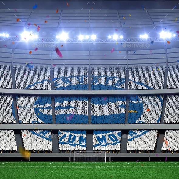 Football Stadium Fans Banners Mockup - Logo Product Mock-Ups