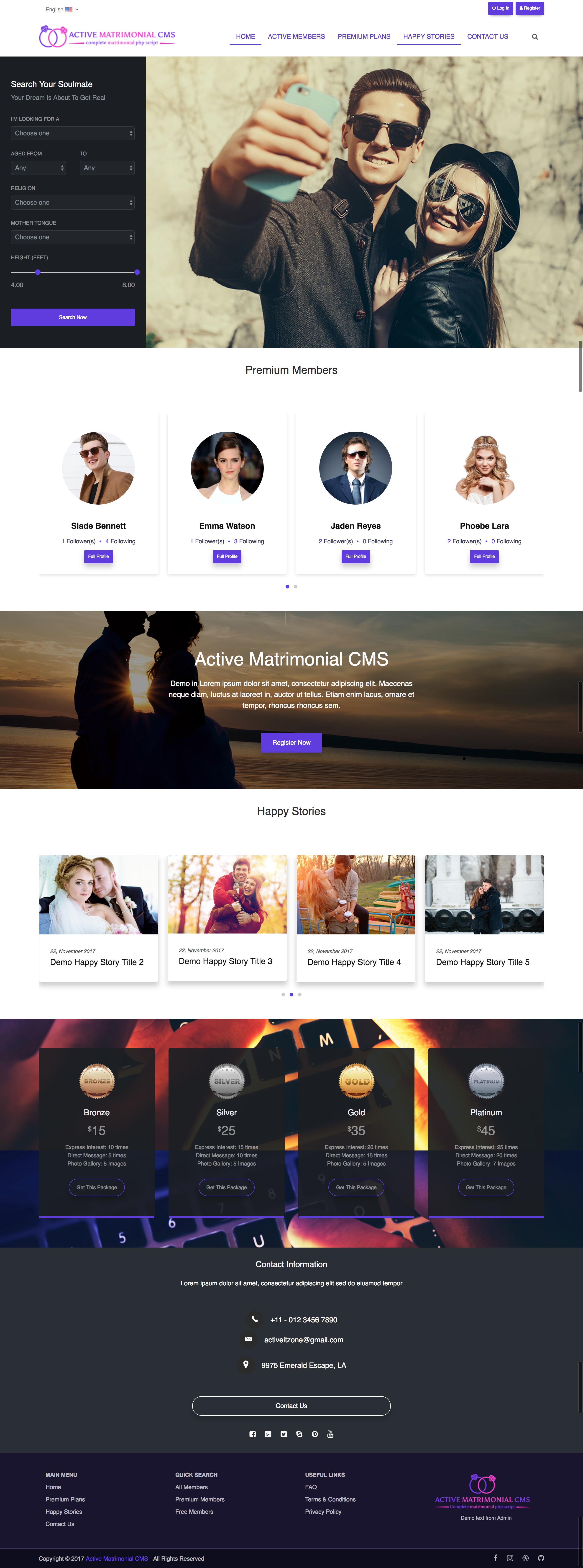 tema wordpress pentru site de matrimoniale