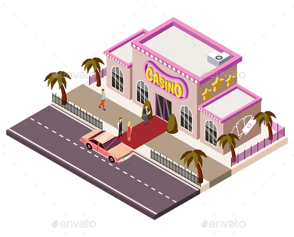 Casino Isometric Composition - Buildings Objects