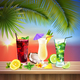 Cocktails Set Realistic Composition - GraphicRiver Item for Sale