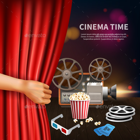 Cinema Realistic Background - Miscellaneous Vectors