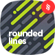 Dynamic Rounded Lines in Diagonal Rhythm Backgrounds
