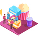 Snacks Cinema Isometric Composition - GraphicRiver Item for Sale