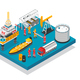 Oil Gas Platform Isometric - GraphicRiver Item for Sale