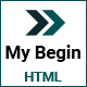 My Begin - Personal Portfolio HTML Template - ThemeForest Item for Sale