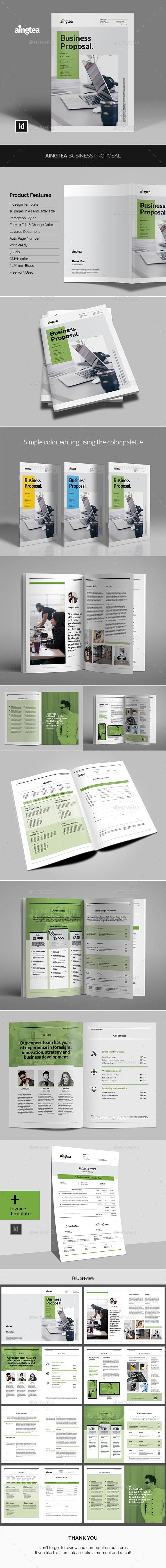 Aingtea Business Proposal - Proposals & Invoices Stationery