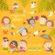 Summer Children Outdoor Activities - GraphicRiver Item for Sale