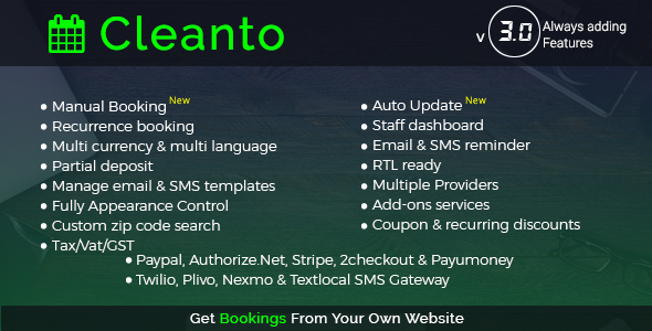 Cleanto - Online Bookings for Cleaning Businesses nulled free download