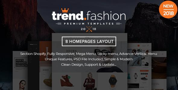 TrendFashion - Multipurpose Responsive Shopify theme - Fashion Shopify