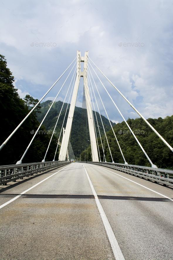 Road on the bridge - Stock Photo - Images