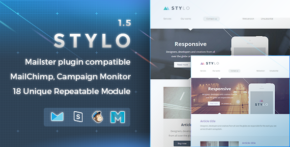Stylo - Responsive Email Template - Newsletters Email Templates