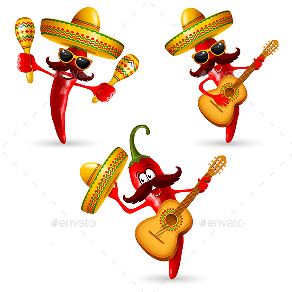 Cinco De Mayo Pepper - Seasons/Holidays Conceptual