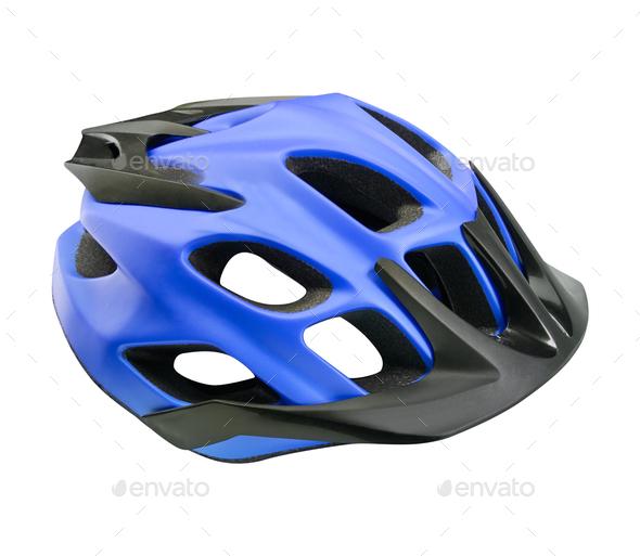 mountain bike helmet isolated - Stock Photo - Images