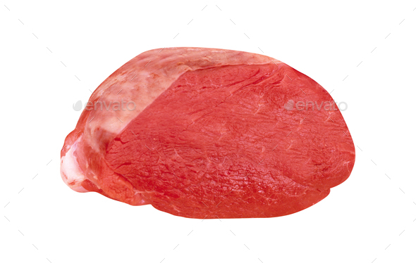 roastbeef isolated on white background - Stock Photo - Images
