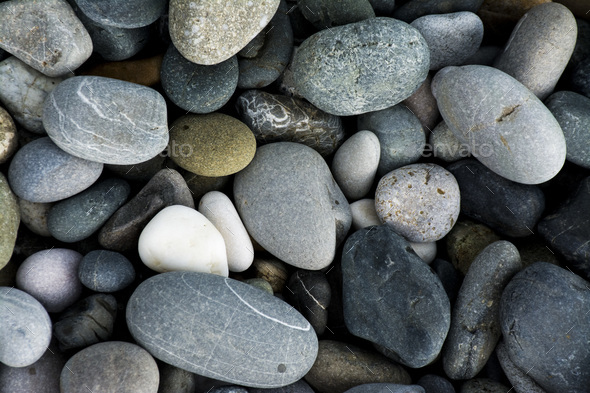 The pebbles rocks on the beach - Stock Photo - Images