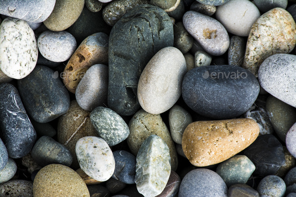 Colored Sea gravel pebbles - Stock Photo - Images