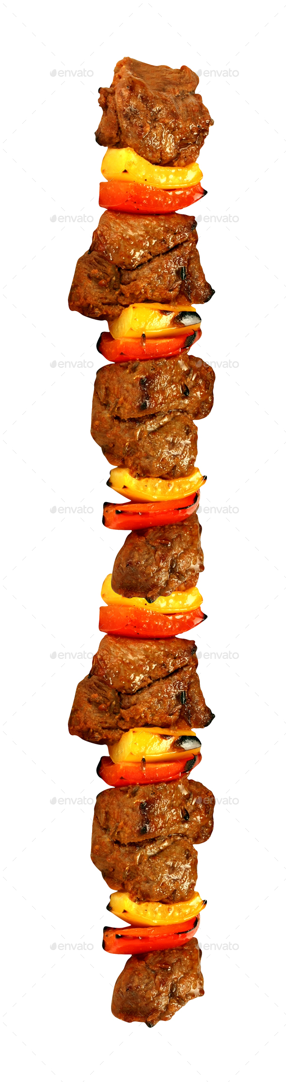 kebab isolated on white background - Stock Photo - Images