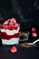 Healthy chia pudding with raspberries in glass - PhotoDune Item for Sale