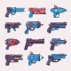 Cartoon Gun Vector  - GraphicRiver Item for Sale