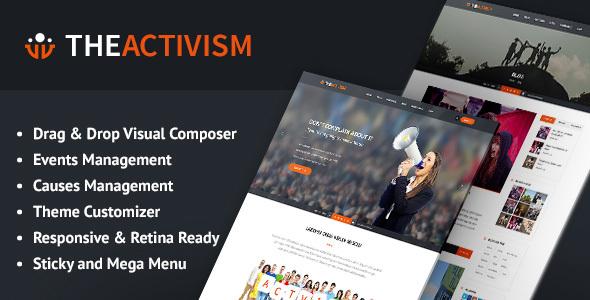 Image of The Activism : Political Activism WordPress Theme