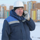 Builder Engineer at Construction Site Talking on Phone - VideoHive Item for Sale