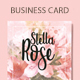 Floral Watercolor Business Card - GraphicRiver Item for Sale