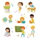 Kids at School Set - GraphicRiver Item for Sale