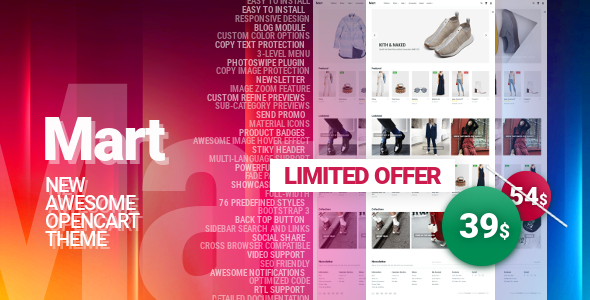 Image of Mart - Awesome OpenCart Theme