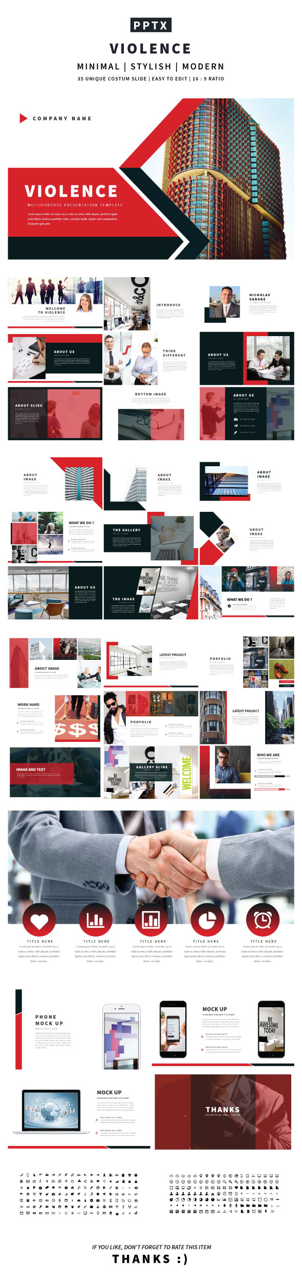 Violence Presentation Template - Creative PowerPoint Templates