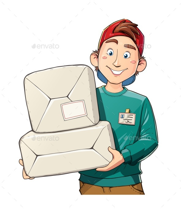 Man with Package - Food Objects
