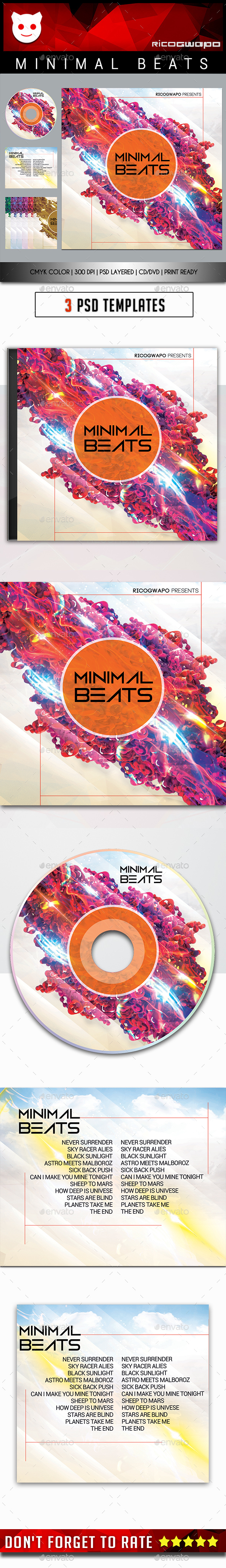 Minimal Beats Cd/DVD Template - CD & DVD Artwork Print Templates