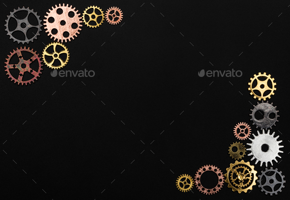 Frame made out of cogwheels - Stock Photo - Images