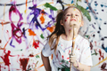 Young child painter standing with a brush - PhotoDune Item for Sale
