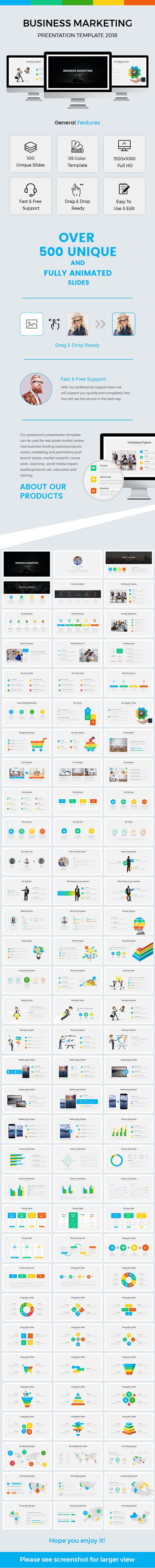 Business Marketing Google Slides Template 2018 - Google Slides Presentation Templates