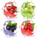 Realistic Berries in Juices Splash Set. - GraphicRiver Item for Sale