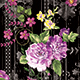 Seamless Flowers Pattern With Black Background for Textile Prints. - GraphicRiver Item for Sale