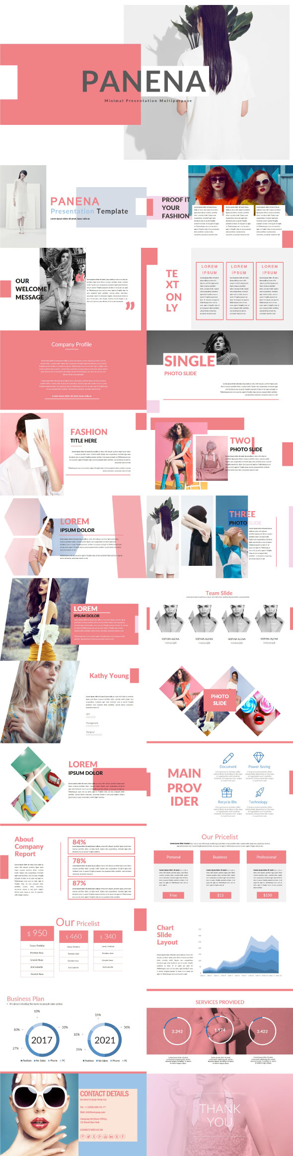 Panena Google Slide Template - Google Slides Presentation Templates