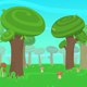 Cartoon Forest Landscape - VideoHive Item for Sale