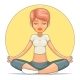Yoga Meditation Female Tranquility - GraphicRiver Item for Sale