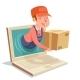 Laptop Internet Delivery Concept Box Computer