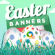 Easter Banner Set - GraphicRiver Item for Sale