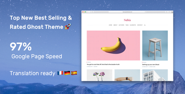Nubia - Make Your Ghost Blog Beautiful & Make It Fast & Accessible - Ghost Themes Blogging