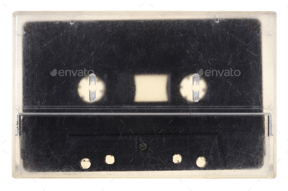 Vintage audio tape isolated on white - Stock Photo - Images